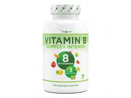 Vit4ever Vitamín B komplex 180 kapslí | všech 8 vitamínů B + 3 kofaktory | Natureforlife.cz