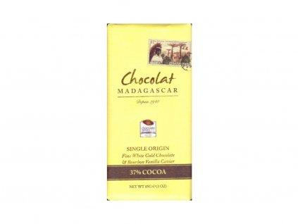 CHOCOLAT MADAGASCAR | BIO Bílá čokoláda s vanilkovým kaviárem 37% KAKAO | Natureforlife.cz