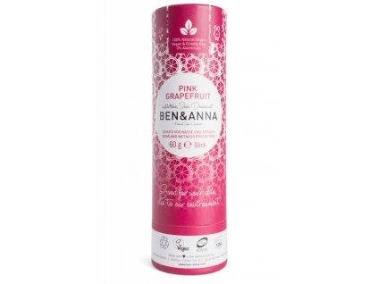 Ben & Anna | Tuhý deodorant - Růžový grapefruit | Natureforlife.cz