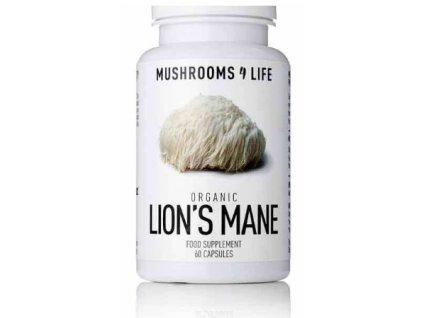 MUSHROOMS4 Life | BIO HOUBA LION'S MANE 60 kapslí |  Natureforlife.cz