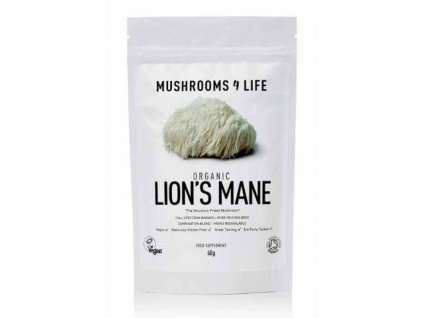 MUSHROOMS4 Life | BIO HOUBA LION'S MANE 60g |  Natureforlife.cz