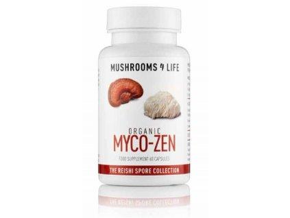 MUSHROOMS4 Life | MYCO-ZEN REISHI LION´S MANE 60 kapslí | Natureforlife.cz