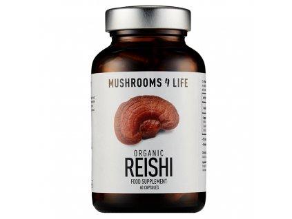 MUSHROOMS4 Life | Extrakt Vitální houby REISHI 60 kapslí | Natureforlife.cz