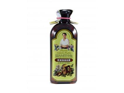 Babička Agafia | Šampon pro muže s pivným droždím, mydlicí | Natureforlife.cz