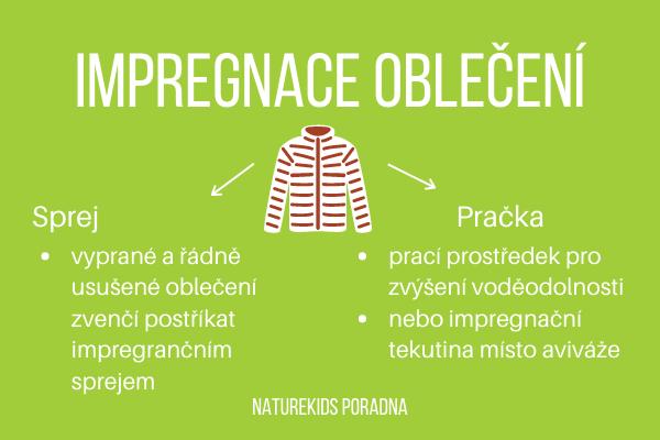 Jak správně impregnovat oblečení