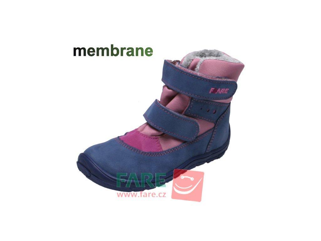 4184 fare bare detske zimni s membranou b5441251 modro ruzove