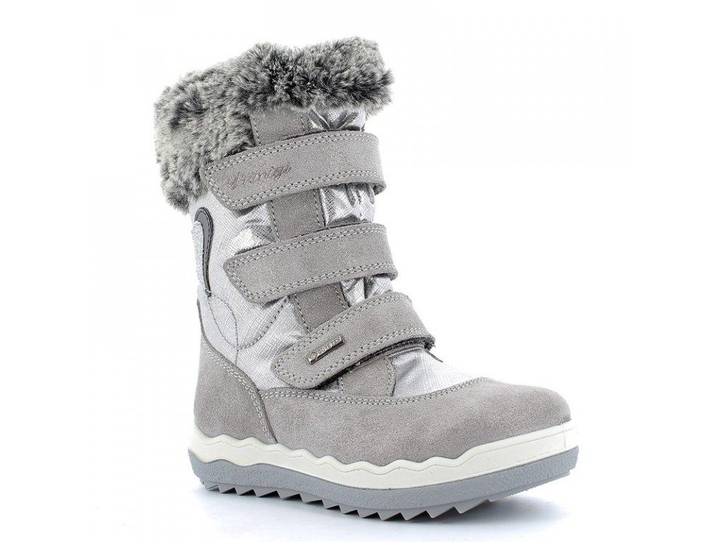 divci snehove boty primigi 6381500 stribrne