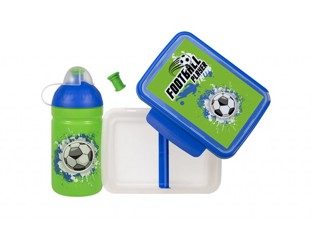 Box Zdravá sváča+láhev 0,5 l set Fotbal