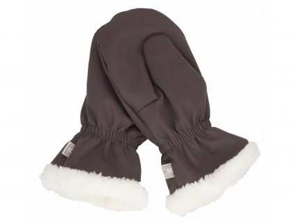 Rukavice Fantom softshell s kožíškem