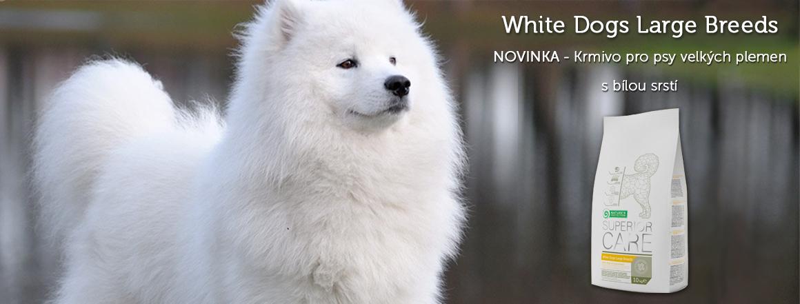 Krmivo Natures Protection pro psy velkých plemen s bílou srstí
