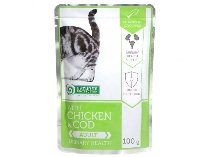 natures protecion urinary health chicken cod 100g