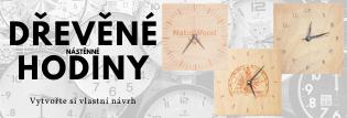 Nástěnné dřevěné hodiny s vlastním návrhem