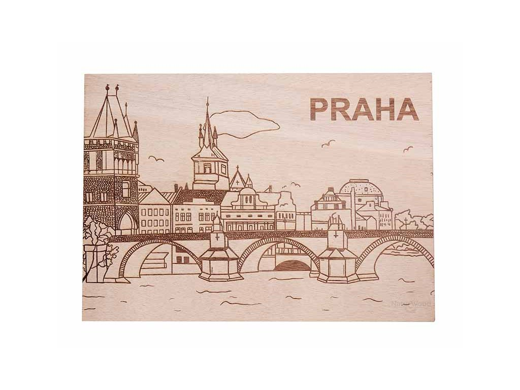 Dřevěný obraz - pohlednice