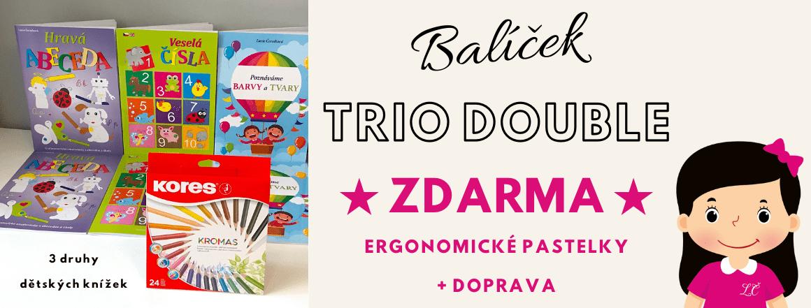 Balíček TRIO DOUBLE ★ Ergonomické pastelky a doprava ZDARMA ★