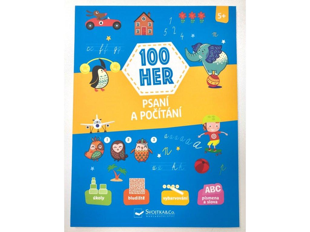 Knížka 100 her - Psaní a počítání pro děti od 5 let
