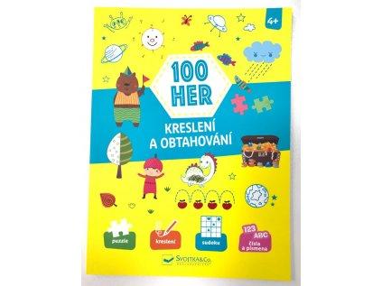 Knížka 100 her - Kreslení a obtahování pro děti od 4 let
