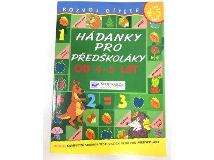 Knížka Hádanky pro předškoláky od 4 - 5 let