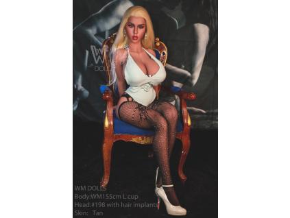 Silikonová panna Blondýnka Leo, 155 cm/ L-Cup
