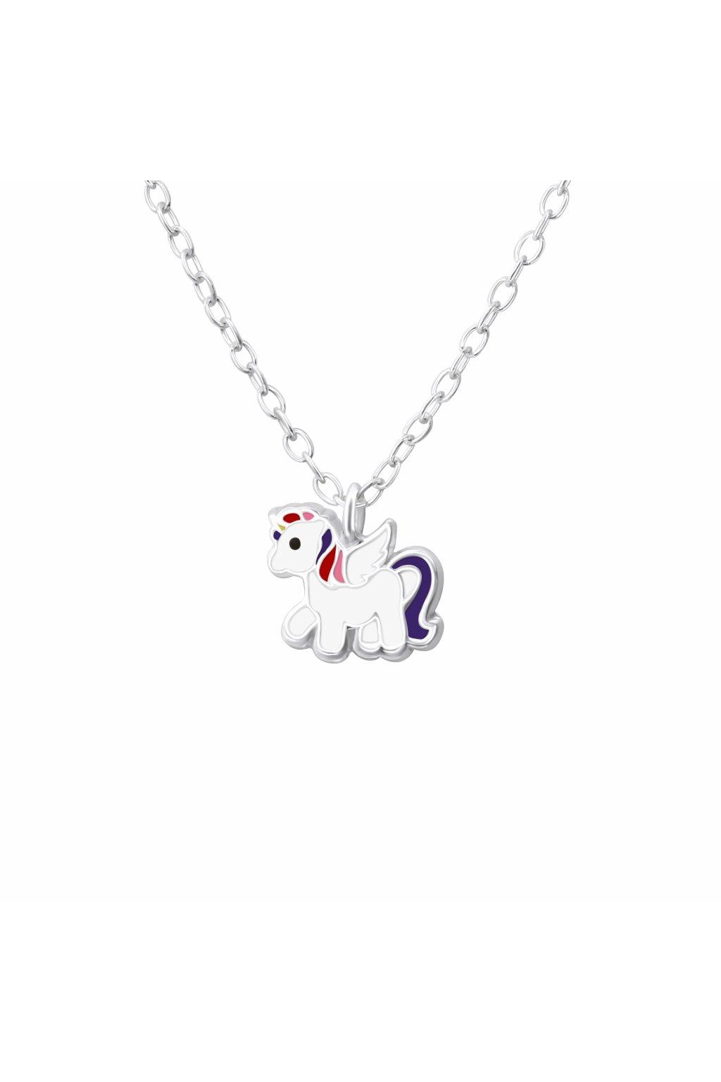 Stříbrný dětský náhrdelník malý jednorožec