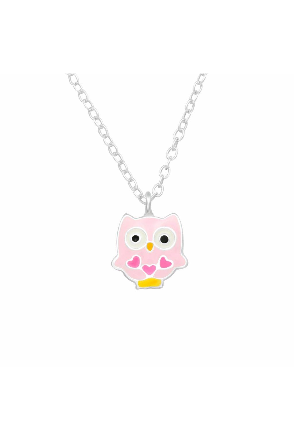 Stříbrný dětský náhrdelník sovička