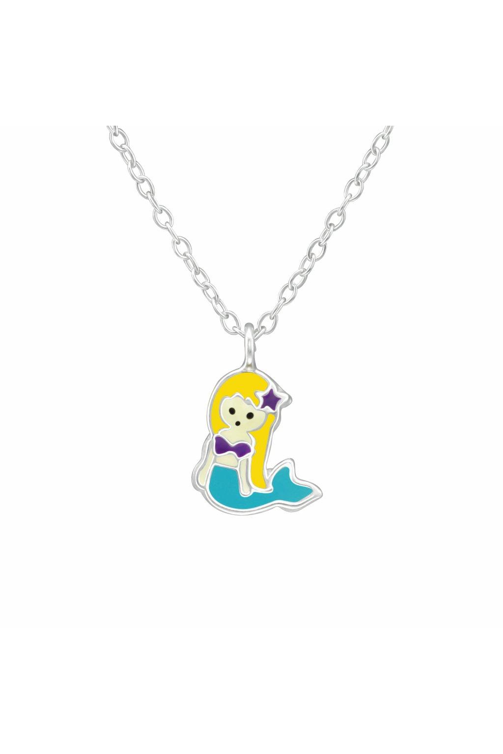 Stříbrný dětský náhrdelník malá mořská víla