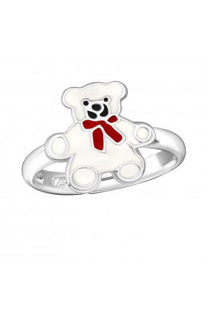 Stříbrný dětský prstýnek medvídek