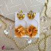 Náušnice Blossom horčicové