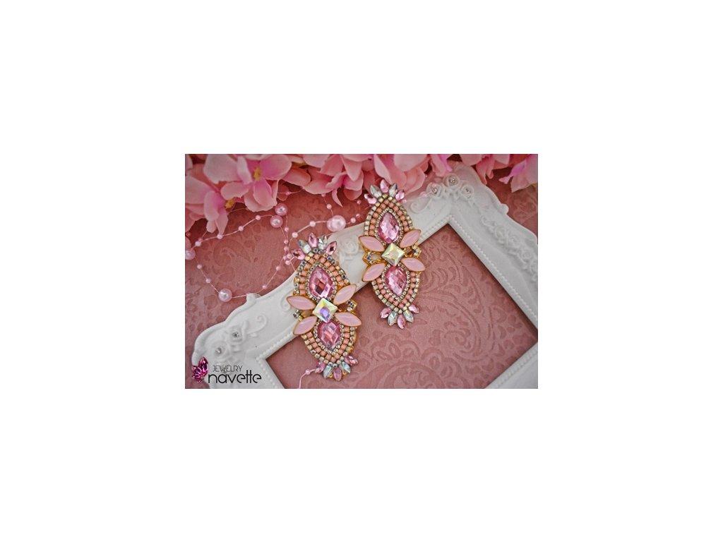 Náušnice Betty pink