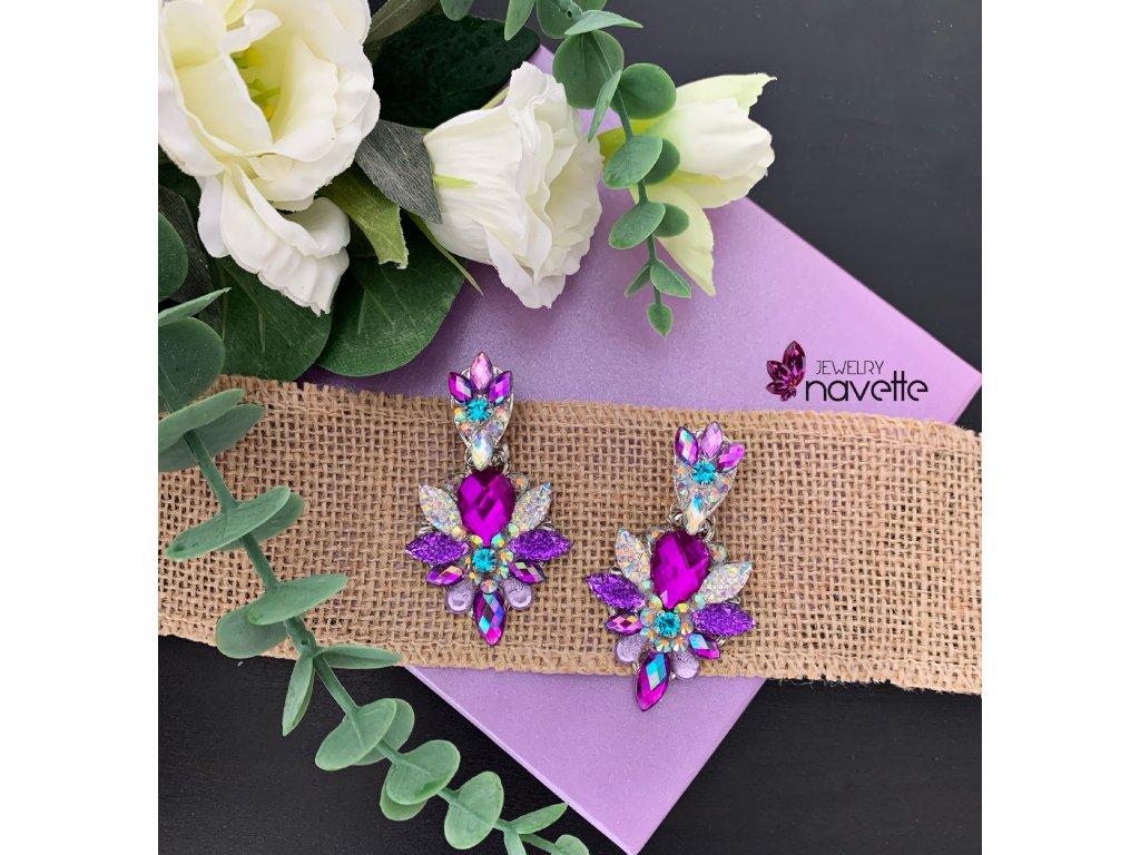 Náušnice Victoria purple