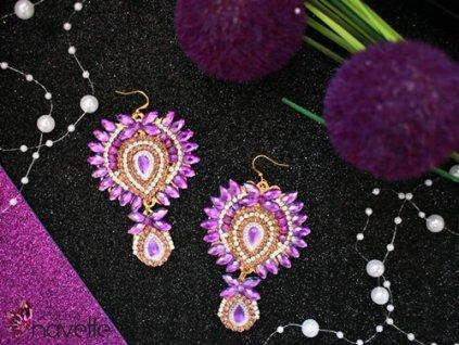 Náušnice Carmen  - fialové