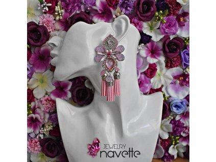 Náušnice Marie - pink