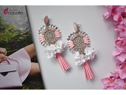 Náušnice Florine - pink