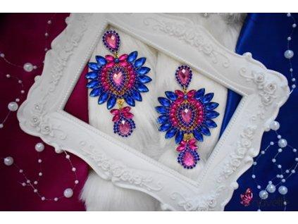 Náušnice Carmen  - pink/blue