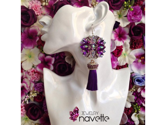 Náušnice Sophie - purple