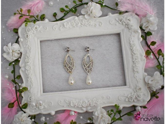 Svadobné náušnice Hetty pearl