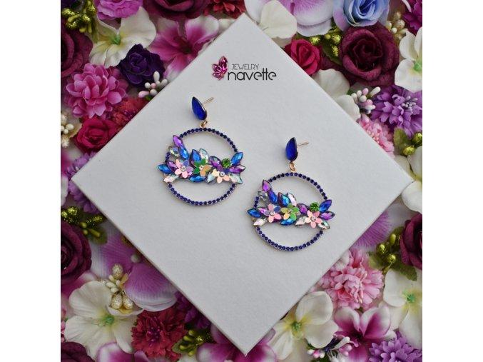 Kruhy - flower power blue
