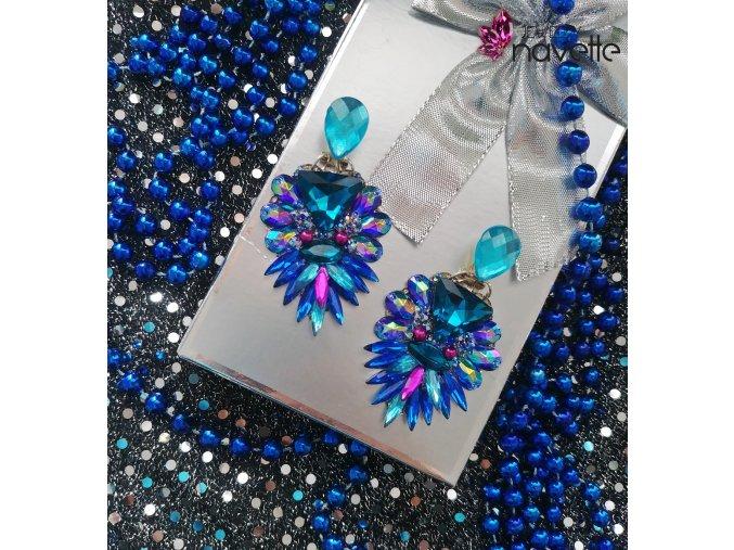 Náušnice Selly blue