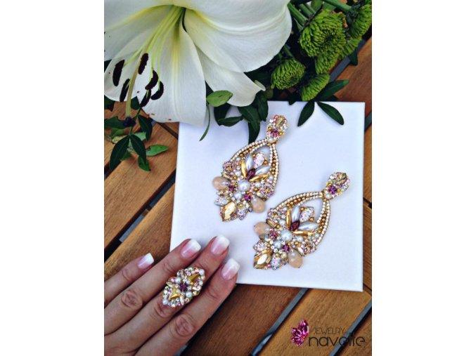 Set Náušnice Infinity + prsteň