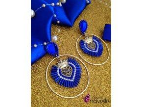 Náušnice srdiečka modré