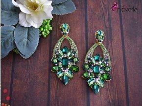 Náušnice Infinity green