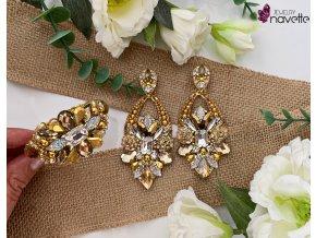 Set INFINITY náušnice a náramok-gold