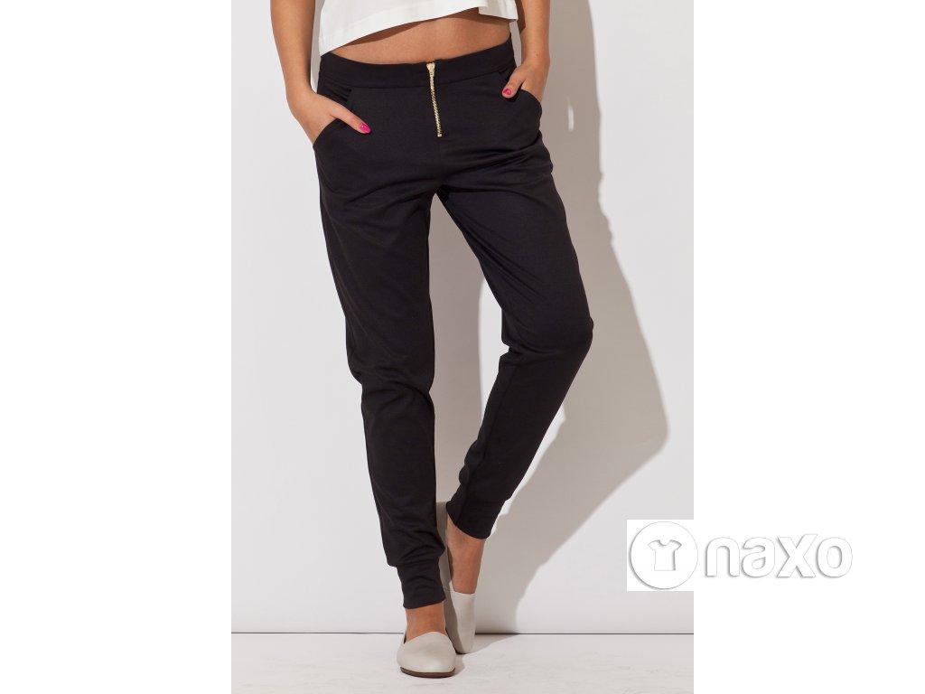 6fb24c80430 Sportovně elegantní dámské kalhoty Frida – černé - Naxo.cz
