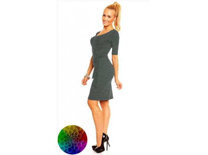 Šaty Lea s elegantním vázáním na boku