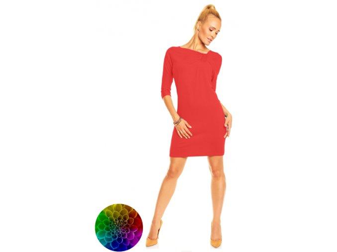 Mini šaty Emma s asymetrickým výstřihem s volánky