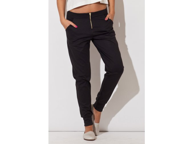 Sportovně elegantní dámské kalhoty Frida – černé