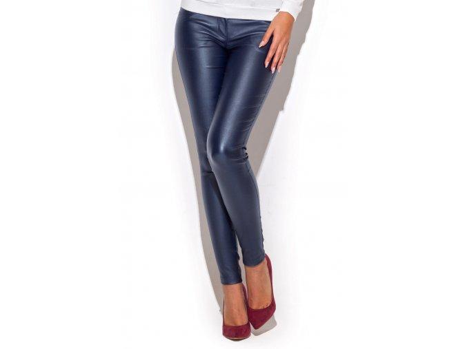 Elegantní lesklé kalhoty Camilla – granátové