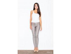 Lesklé kalhoty Sisi - béžové