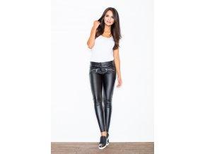 Lesklé kalhoty Sisi - černé