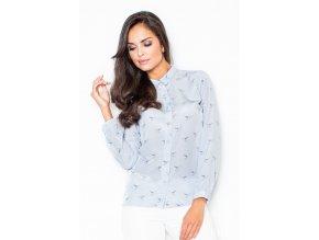Ležérní dámská košile Kolibřík - světle modrá