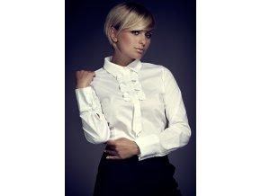 Netradiční dámská košile Britany s imitací kravaty - bílá